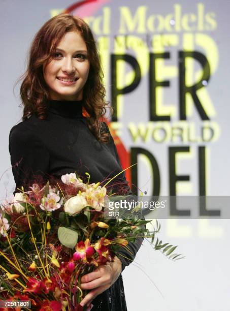 A winner of the Russian event 'Supermodel of the World 2007' contest fifteenyearold Russian model Sasha Kuznetsova from the town of Khabarovsk smiles...