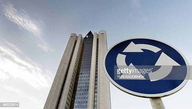 Moscow, RUSSIAN FEDERATION: General view of the Russian natural gas monopoly gaint Gazprom headquarters building in Moscow, 04 January 2006. Russia...