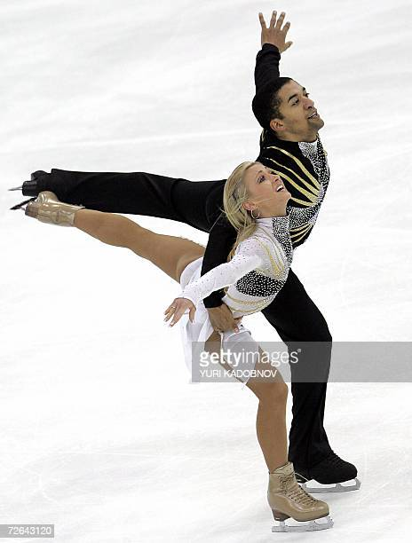 German Aliona Savchenko and Robin Szelkowy perform their pairs free program at the ISU Grand Prix of figure skating Cup of Russia in Moscow 25...