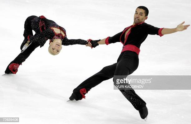 German Aliona Savchenko and Robin Szolkowy perform their pairs short program at the ISU Grand Prix of figure skating Cup of Russia in Moscow 24...