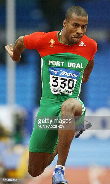 Portugal's Evora Nelson competes during the men's triple jump qualifications at the 11th IAAF World Indoor Championships in Moscow 11 March 2006...