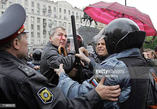 Russian police forces arrest Volker Beck a member of the Bundestag and a German lawyer after he was beaten by opponents of a planned gaypride parade...