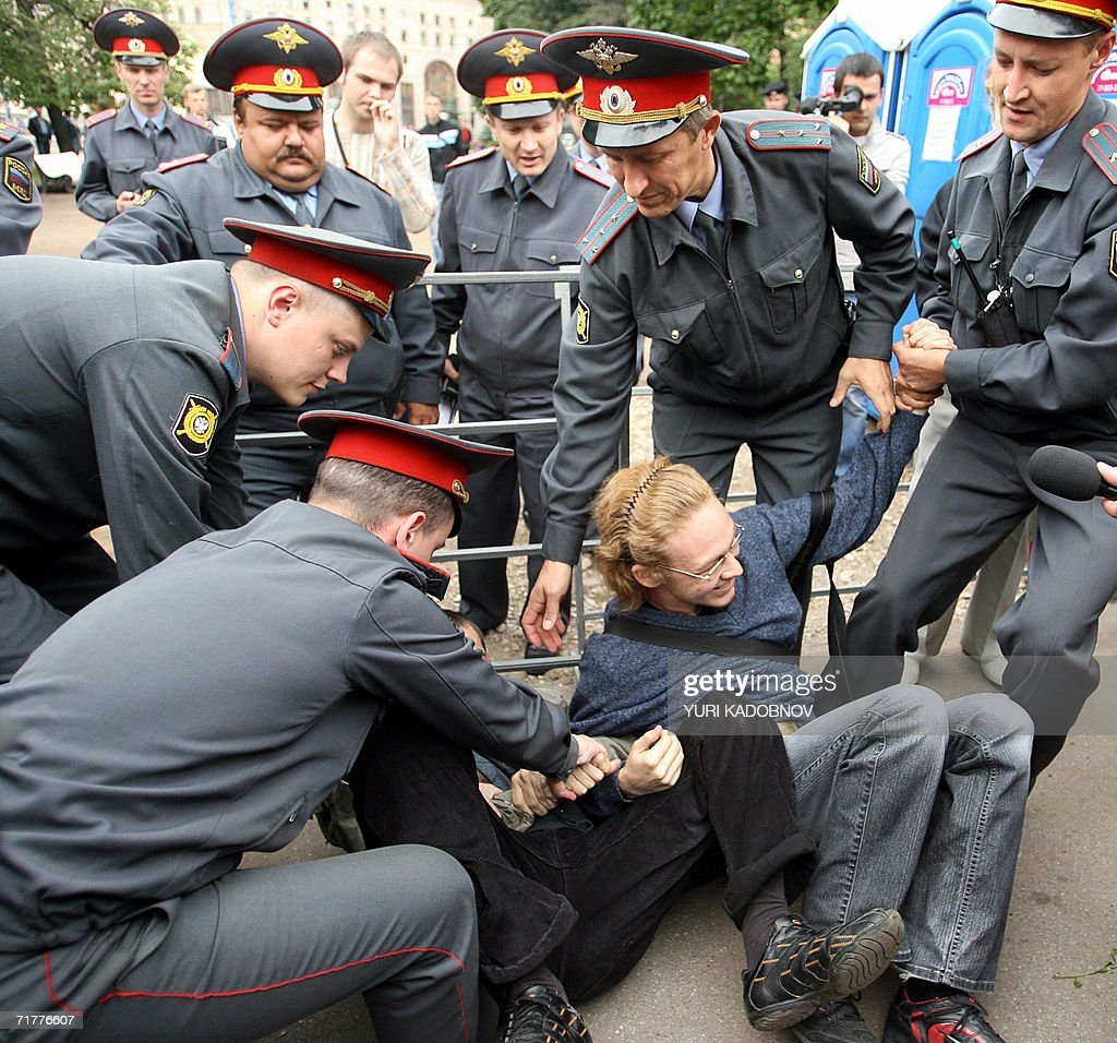Russian Special Police Forces Arrest A Member Of A Human