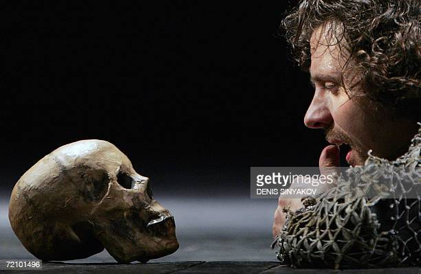 The dress rehearsal of William Shakespeare's tragedy Hamlet is performed 06 October 2006 by Russian actor Nikolay Lazarev in the Theatre of Russian...