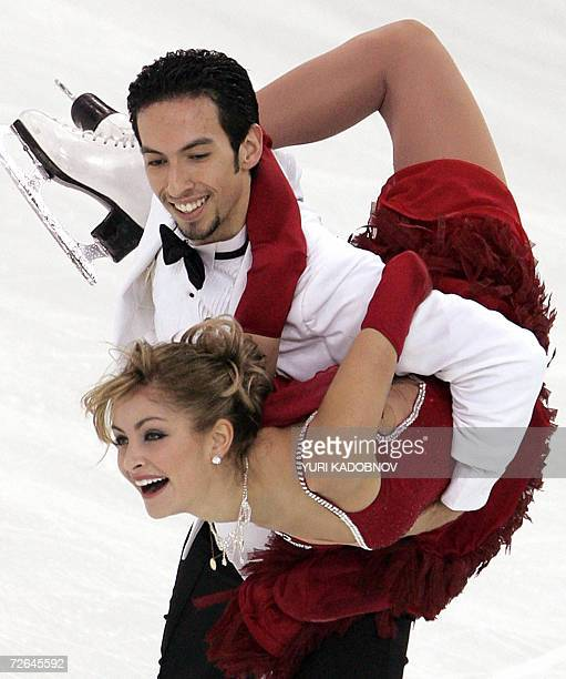US ice dancers Tanith Belbin and Benjamin Agosto perform their free dance at the ISU Grand Prix of figure skating Cup of Russia in Moscow 26 November...