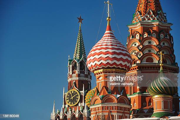 moscow, st basil - russian culture stock pictures, royalty-free photos & images