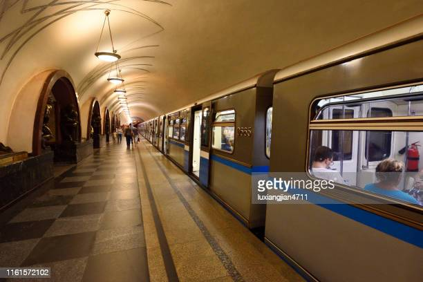 moscow subway - moscow metro stock pictures, royalty-free photos & images