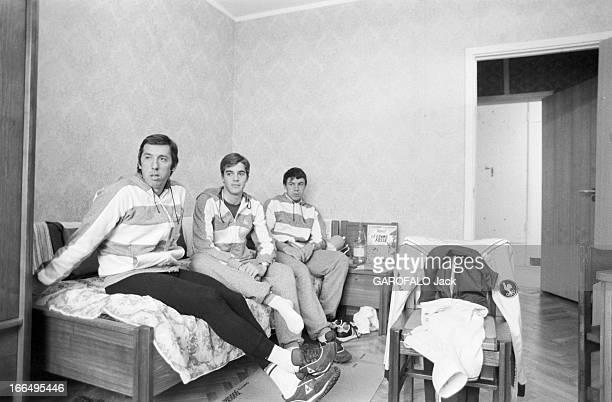 Moscow Summer Olympic Games 1980 Union Soviétique 21 juillet 1980 les Jeux Olympiques d'été de Moscou l'équipe française de cyclisme Dans leur...