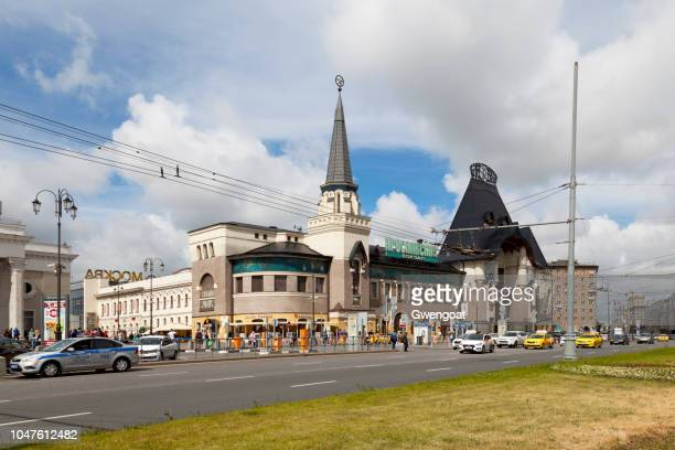 moscow yaroslavsky railway station - gwengoat stock pictures, royalty-free photos & images