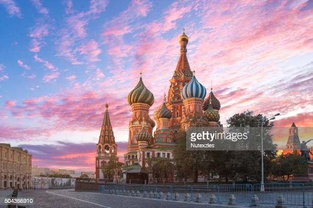moscow,russia,red square,view of st. basil's cathedral - moscow russia stock pictures, royalty-free photos & images