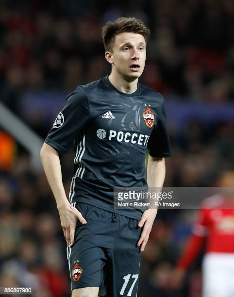 Moscow's Alexandr Golovin during the UEFA Champions League match at Old Trafford Manchester PRESS ASSOCIATION Photo Picture date Tuesday December 5...