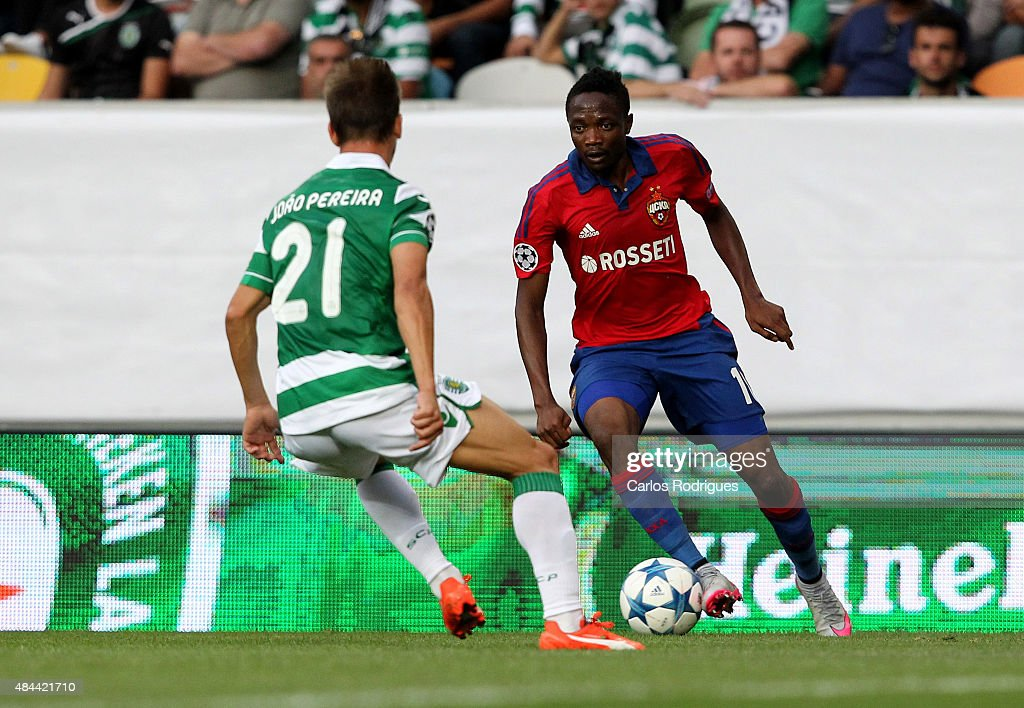 Sporting CP v CSKA Moscow - UEFA Champions League: Qualifying Round Play Off First Leg : News Photo