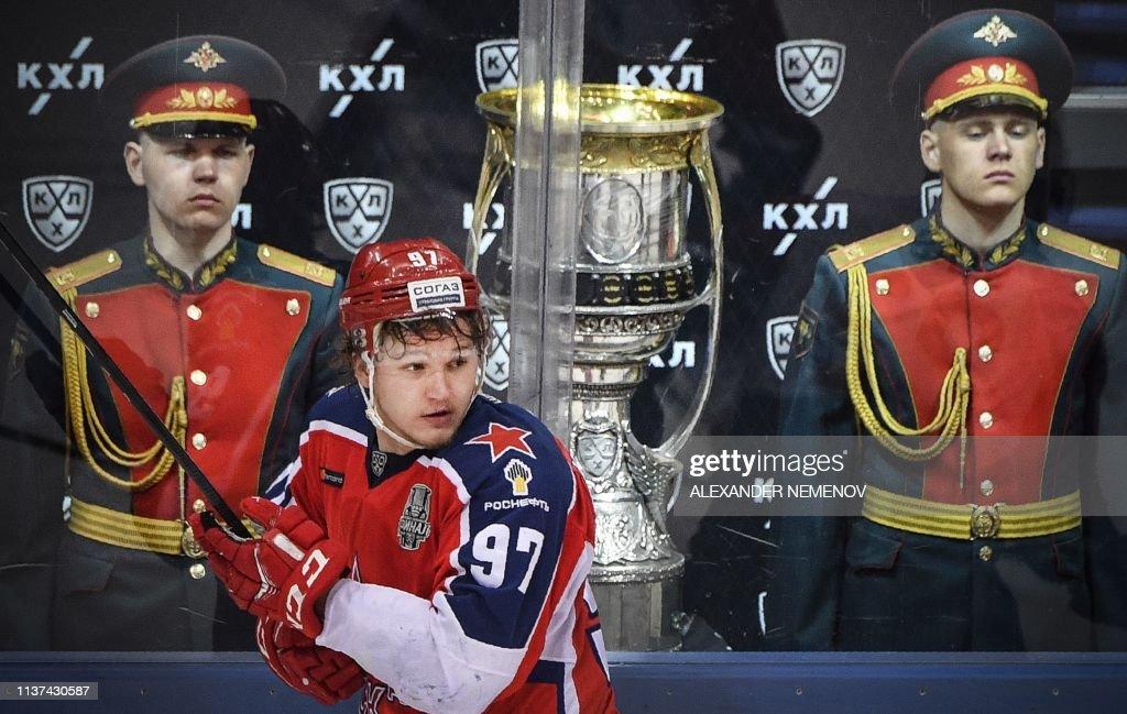 IHOCKEY-RUS-KHL-CSKA-AVANGARD : News Photo