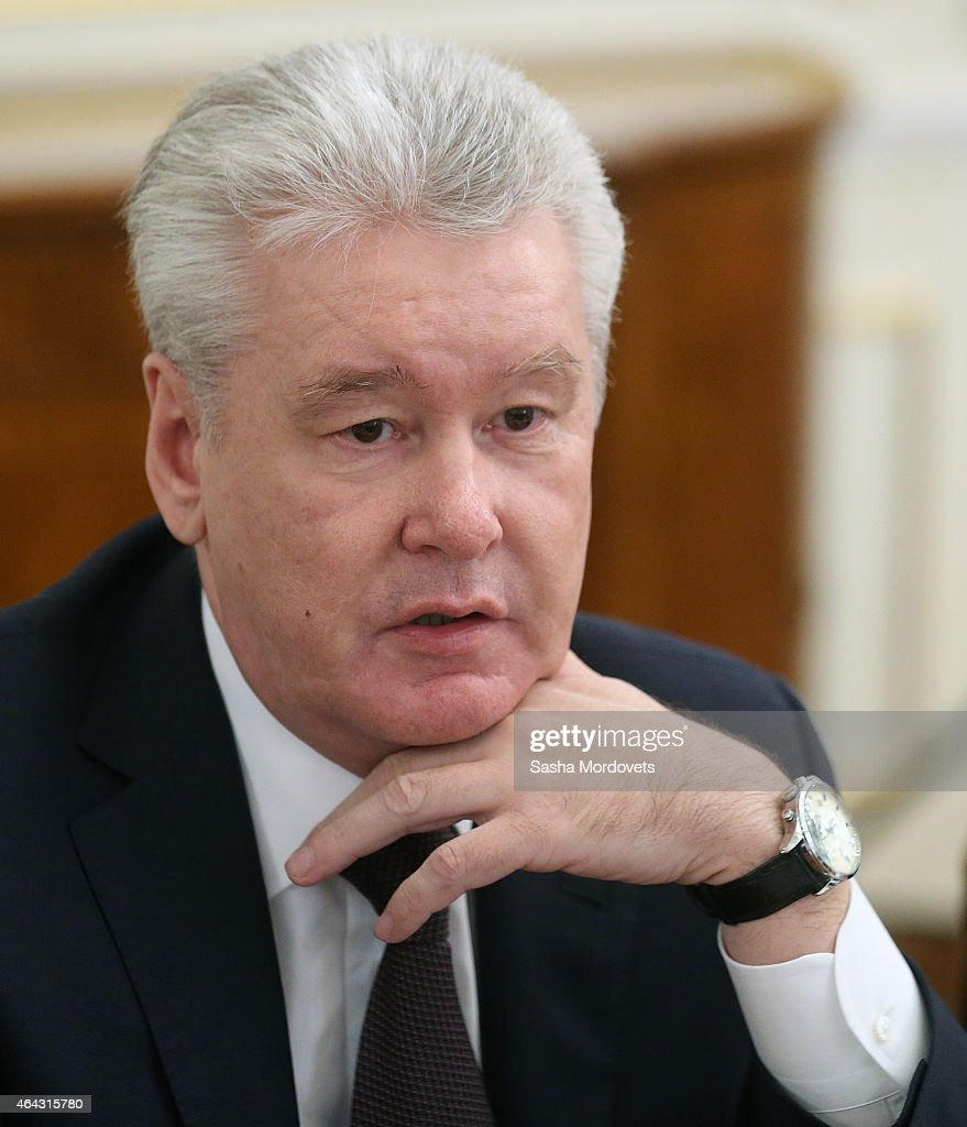 Moscow's Mayor Sergei Sobyanin speaks during a meeting of State Council Presidium at the Novo Ogaryovo State Residence on February,24 2015 outside of Moscow, Russia. Putin recently said on Russian TV that a war with Ukraine would be apocalyptic scenario, but probably never happen.