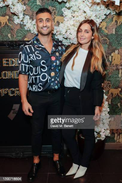 Moses and Louise Redknapp attend The Edit Man London x ONE LESS GUN party during London Fashion Week February 2020 at Maddox Club on February 13 2020...