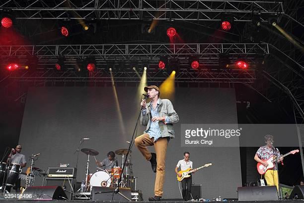Moses Archuleta Bradford Cox Josh McKay and Lockett Pundt of Deerhunter perform live on day 1 of Field Day festival on June 11 2016 in London England