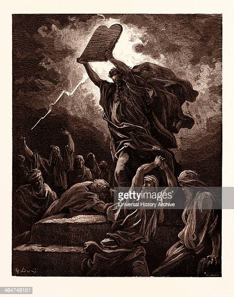 Moses Breaking The Tables Of The Law By Gustave Dore Gustave Dore 1832 1883 French Engraving For The Bible 1870 Art Artist Holy Book Religion...