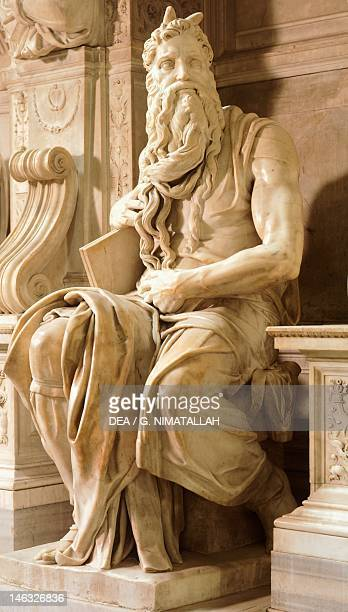 Moses detail from the Tomb of Julius II ca 1515 by Michelangelo Basilica of St Peter in Chains Rome Lazio