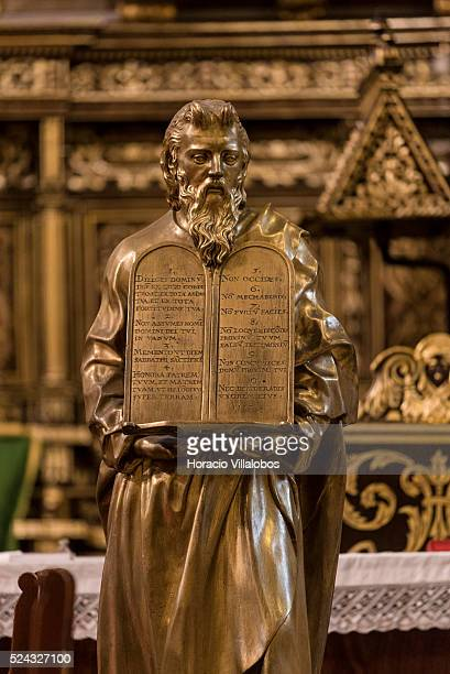 Moses figure at St John's CoCathedral in Valletta Malta 20 October 2015 St John's CoCathedral was built by the Knights of Malta between 1573 and 1578...