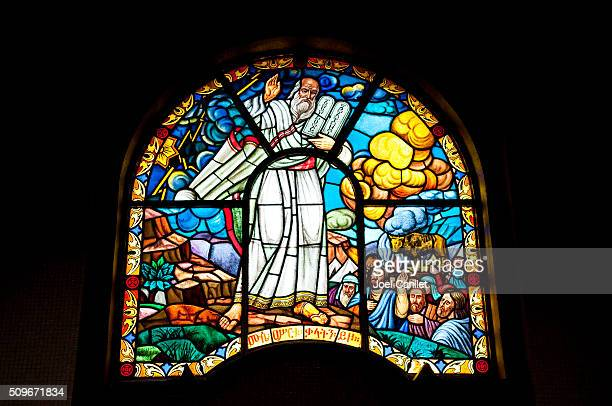 Moses in stained glass - Ethiopia