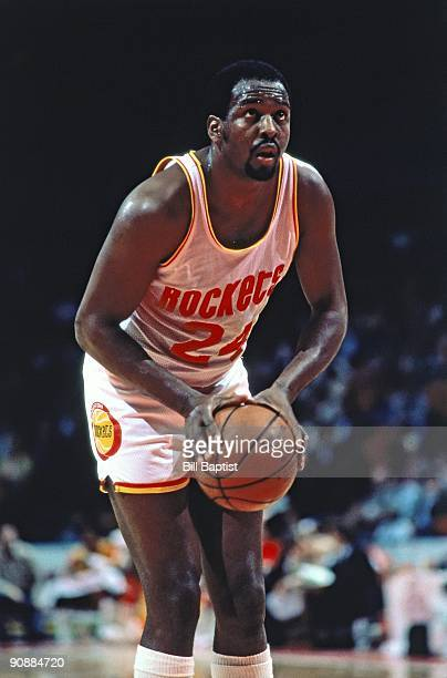 Moses Malone of the Houston Rockets shoots during a game played in Houston Texas NOTE TO USER User expressly acknowledges and agrees that by...