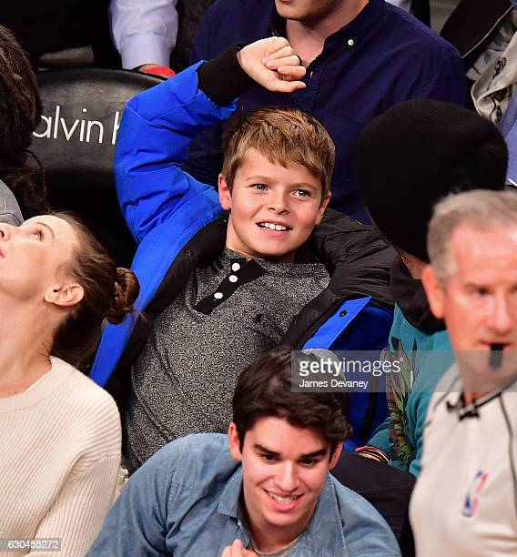 Moses Martin attends Golden State Warriors Vs Brooklyn Nets game at Barclays Center on December 22 2016 in New York City