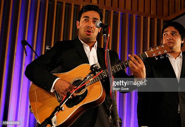 Moses McKay of Sole Mio performing at Capitol Records Studio on November 4 2014 in Hollywood California