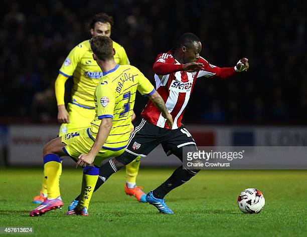 Moses Odubajo attacks for Brentford during the Sky Bet Championship match between Brentford and Sheffield Wednesday at Griffin Park on October 21...