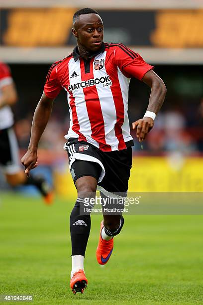 Moses Odubajo of Brentford in action during the Pre Season Friendly match between Brentford and Stoke City at Griffin Park on July 25 2015 in...