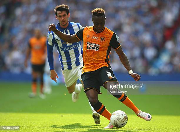 Moses Odubajo of Hull City during Sky Bet Championship Play Off Final match between Hull City and Sheffield Wednesday at Wembley Stadium on May 28...