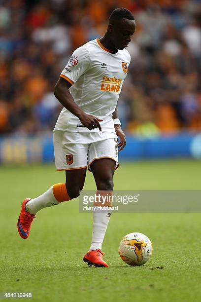 Moses Odubajo of Hull City during the Sky Bet Championship match between Wolverhampton Wanderers and Hull City at Molineux on August 16 2015 in...