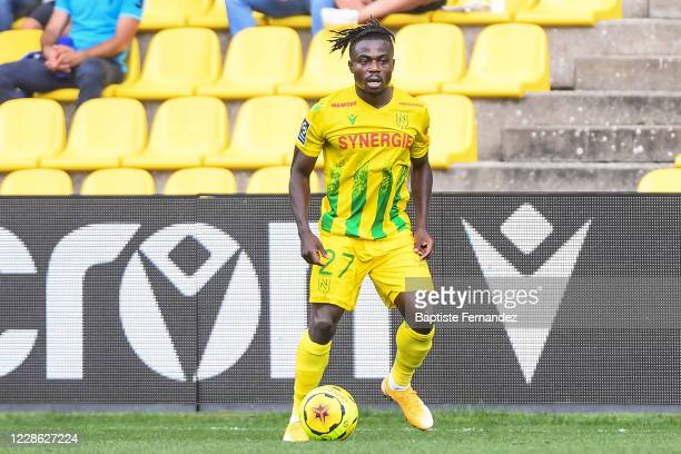Moses SIMON of Nantes during the French Ligue 1 Soccer match between FC Nantes and AS Saint-Etienne at Stade de la Beaujoire on September 20, 2020 in...