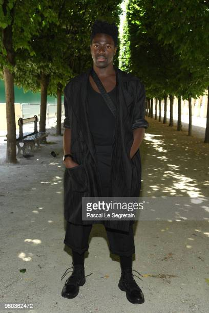 Moses Sumney attends the Louis Vuitton Menswear Spring/Summer 2019 show as part of Paris Fashion Week on June 21 2018 in Paris France
