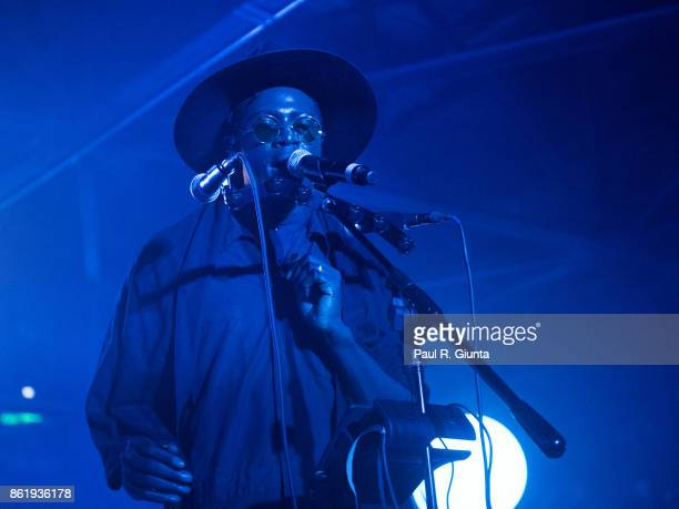 Moses Sumney performs on stage at AFROPUNK 2017 on October 15 2017 in Atlanta Georgia