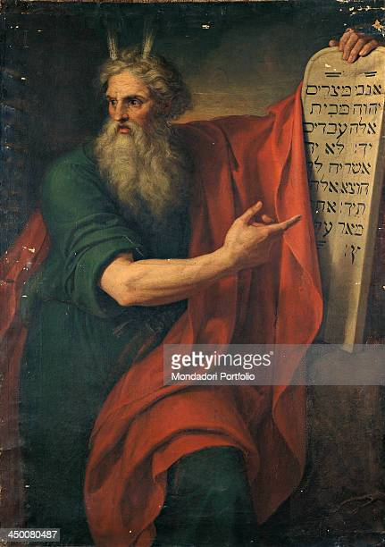 Moses with the second tablets of the law by Giuseppe Diotti 19th Century oil on canvas 162 x 116 cm