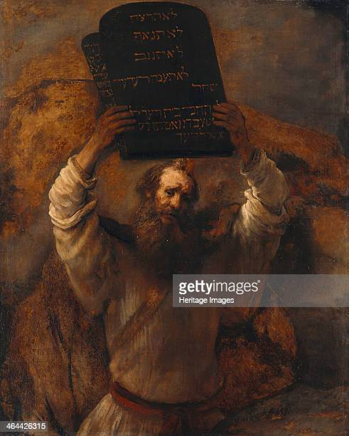 Moses with the Ten Commandments 1659 Found in the collection of the Staatliche Museen Berlin