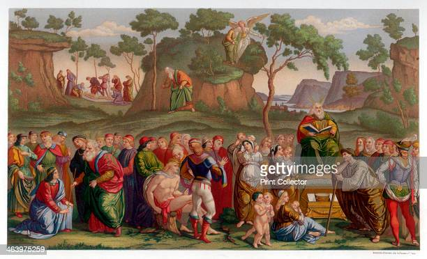 'Moses's Testament and Death' 14811482 Found in the collection of the Sistine Chapel the Vatican Rome A print from Les Chef D'oeuvre de la Peinture...