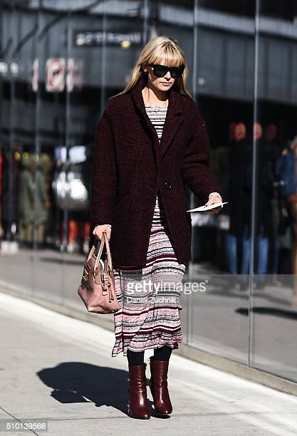 Mosha Lundstrom Halbert is seen outside the Tibi show during New York Fashion Week Women's Fall/Winter 2016 on February 13 2016 in New York City