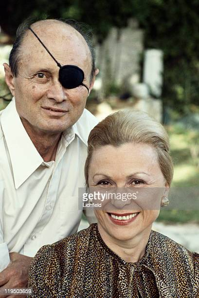 Moshe Dayan and his wife Rachel Jerusalem Israel 3rd April 1978