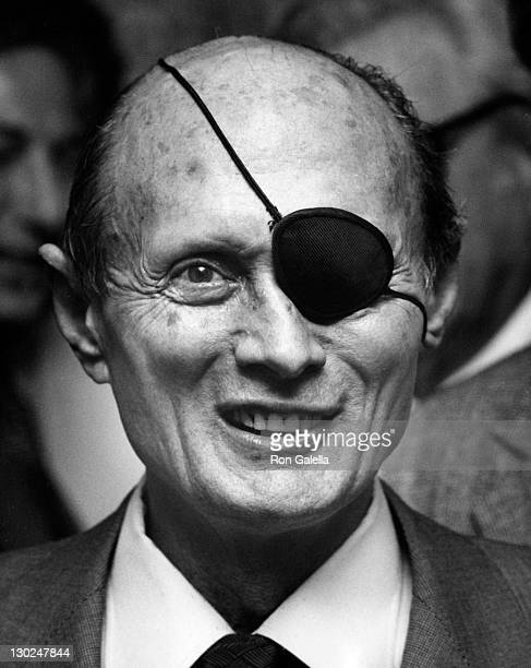 Moshe Dayan attends Beverly Hills Chamber of Commerce Benefit Dinner on April 9 1980 at the Century Plaza Hotel in Century City California