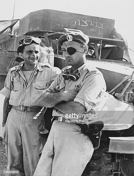 Moshe Dayan Then Chief Of State In Israel During The Sinai Campaign In 1956