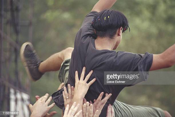 Moshers during Lollapalooza 1991 Waterloo Village at Waterloo Village in Stanhope New Jersey United States
