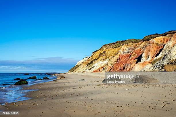Moshup beach and clay cliffs in Aquinnah