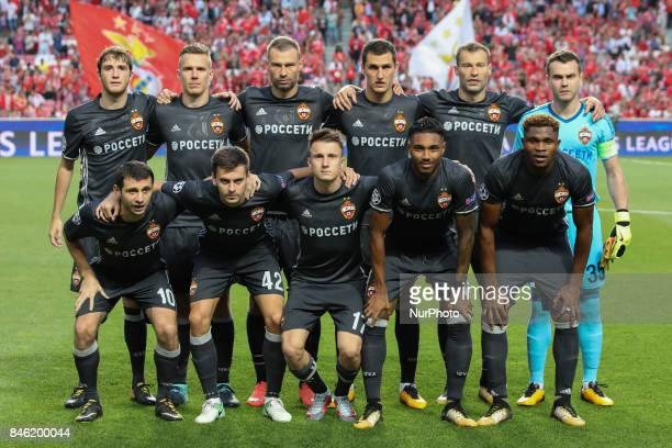 Moskvas inicial team during the SL Benfica v CSKA Moskva UEFA Champions League round one match at Estadio da Luz on September 12 2017 in Lisbon...