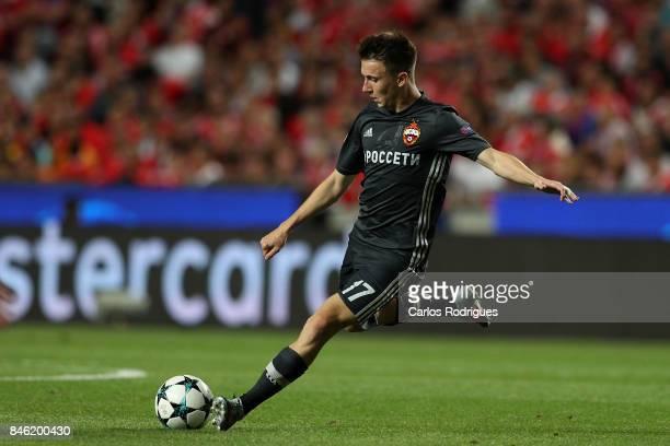 Moskva«s midfielder Aleksandr Golovin from Russia during SL Benfica v CSKA Moskva UEFA Champions League round one match at Estadio da Luz on...