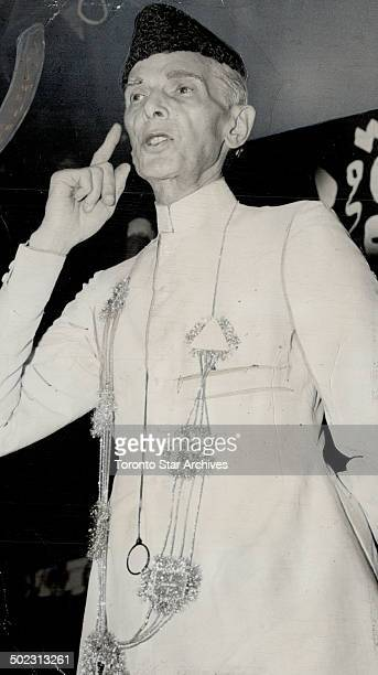 Moslem league president Mohammed Ali Jinnah leaves India for London Sunday he announced