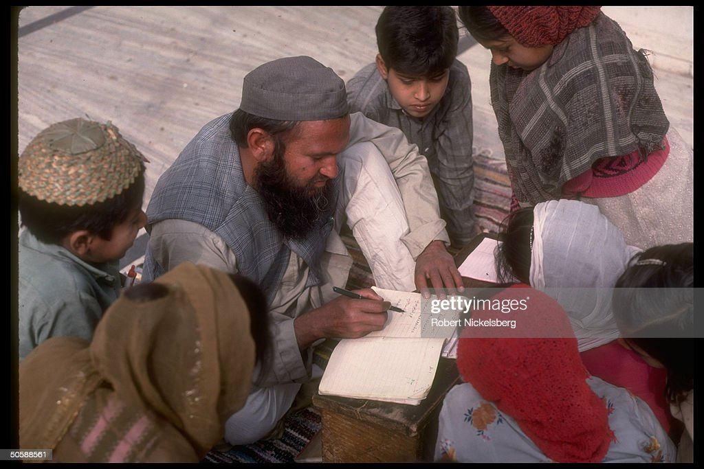 Moslem schoolchildren during language in : News Photo