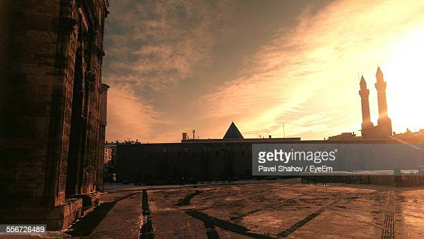 mosque against sky at sunset - sivas stock pictures, royalty-free photos & images