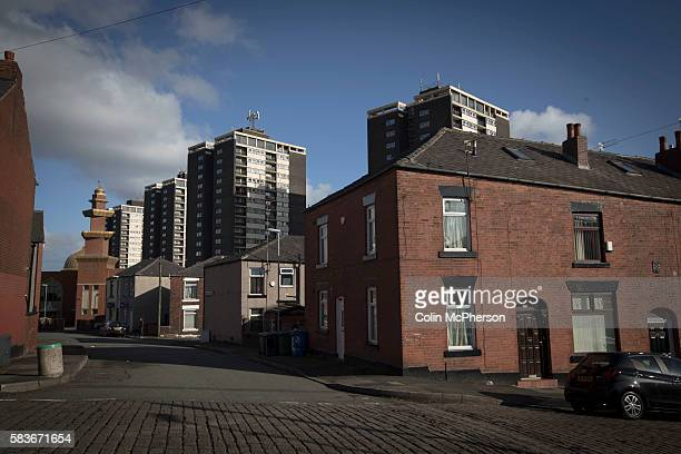 A mosque and flats overlook a traditional street in the town of Rochdale in Greater Manchester The town the birthplace of the Cooperative movement...