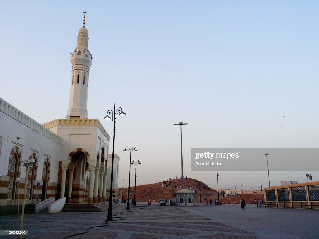 Mosque and Grave of Hazrat Amir Hamza, parental uncle and companion of Prophet Muhammad : Stock Photo